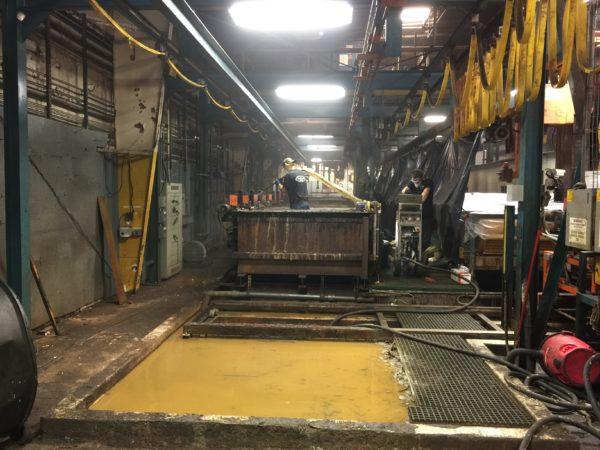 2 – 40′ Zinc Plating Tanks Dry Ice Blast, Remove Old Steel PVC & Install New Co-Polypropylene (1)