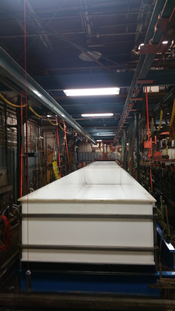 2 – 40′ Zinc Plating Tanks Dry Ice Blast, Remove Old Steel PVC & Install New Co-Polypropylene (3)