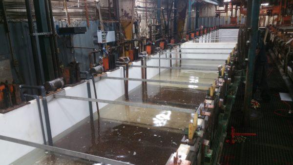 2 – 40′ Zinc Plating Tanks Dry Ice Blast, Remove Old Steel PVC & Install New Co-Polypropylene (5)