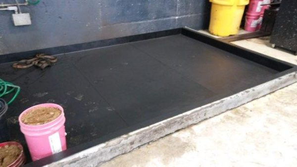 Mop Station Containment Pan Installation