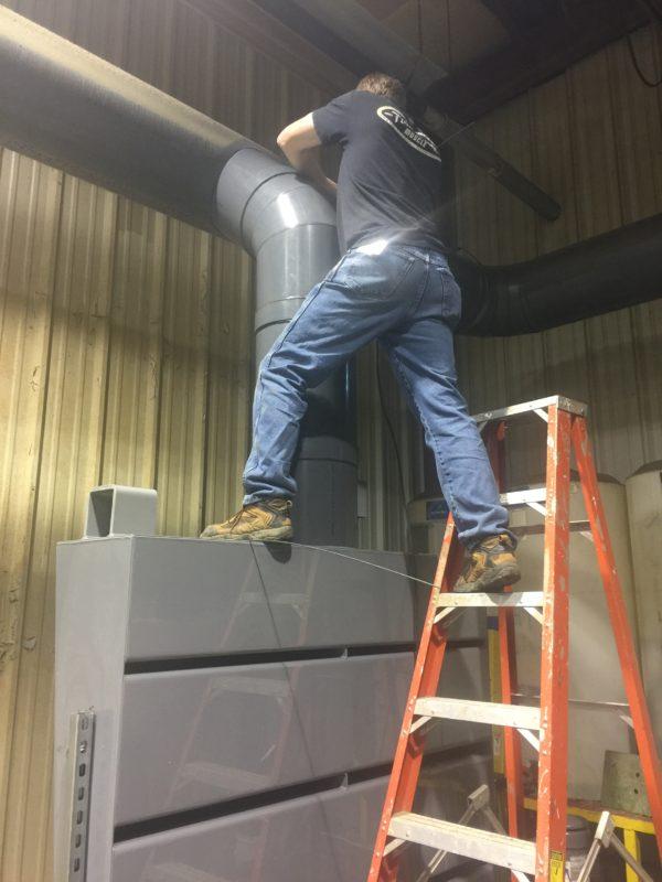 New PVC Exhaust Hood Tye In